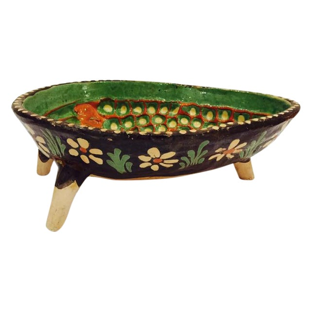 Vintage Hand Painted Pottery Bowl - Image 1 of 7