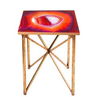 Statements By J Rouge Red Agate Side Table