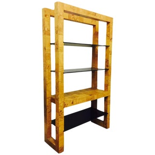 Paul Evans Patchwork Burl Wood Tall Shelving Unit