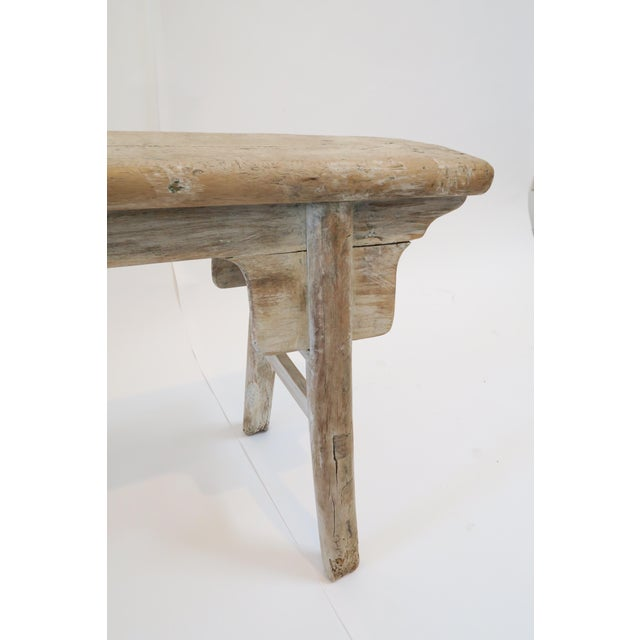 19th Century Oak Mortised Bench - Image 6 of 7