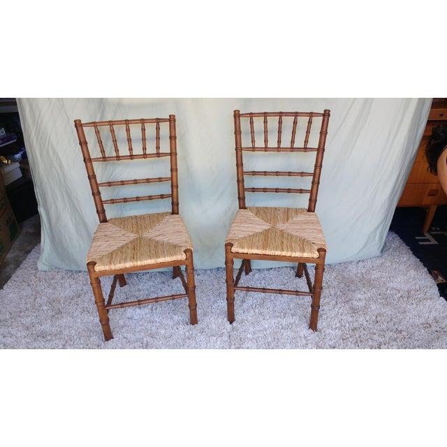 Ballard Designs Dining Chairs - A Pair | Chairish