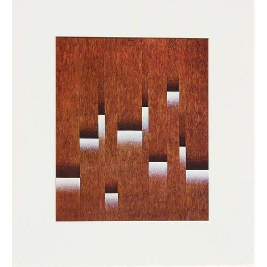 """Image of Herbert Bayer 1965 Lithograph """"Exfoliation"""""""