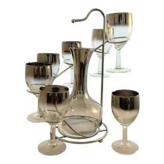 Mid Century Wine Glass Set. Dorothy Thorpe. Mid Century