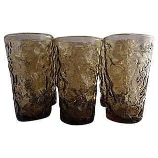 Mid-Century Icicle Juice Glasses - Set of 6