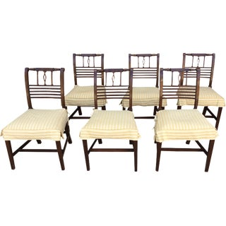 George III Wood Dining Chairs - Set of 6