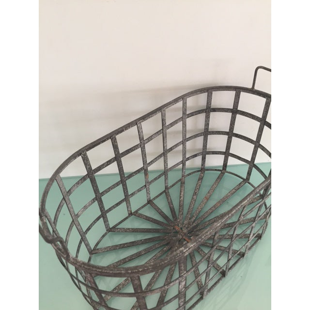 Vintage Zinc Basket - Image 6 of 8