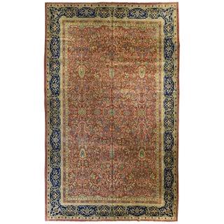 Antique Indian Laristan Carpet