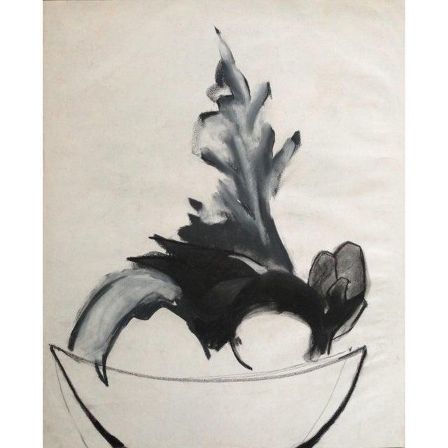 Mid-Century Charcoal Still Life Heidi Thaler - Image 4 of 4