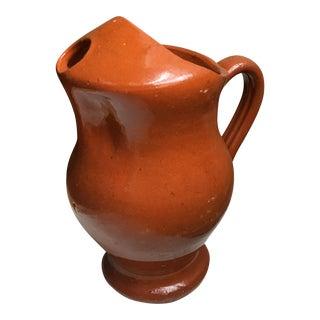 Vintage Red Ceramic Pitcher