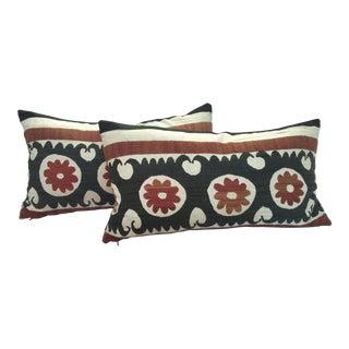 A Pair of Uzbek Suzani Pillows
