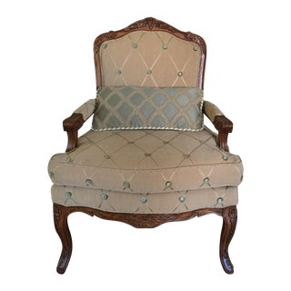 Haverty's Exposed Wood Bergere Chair