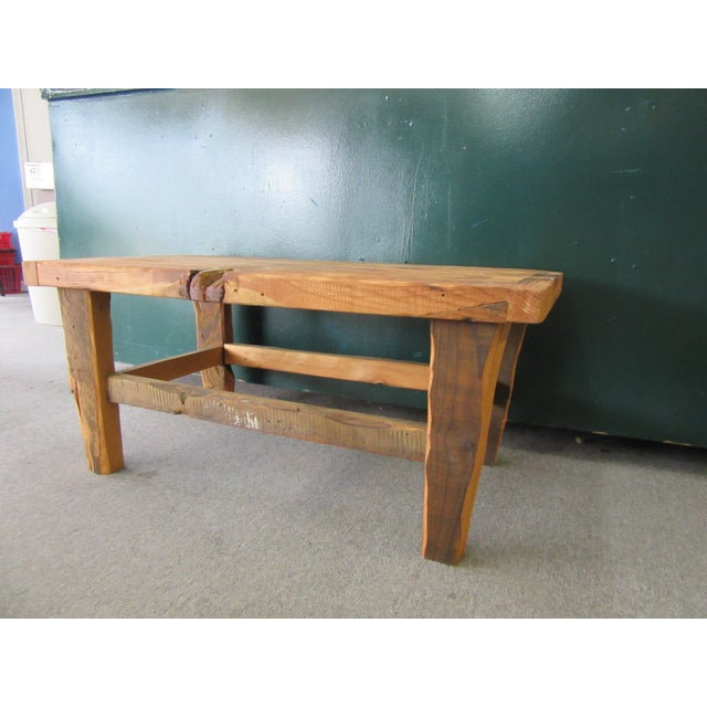 Rustic Reclaimed Pine Peg-Jointed Coffee Table - Image 4 of 11
