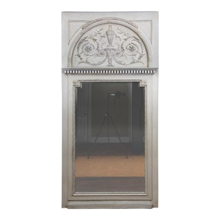 Antique American Neoclassical Federal Style Antique Architectural Trumeau Mirror