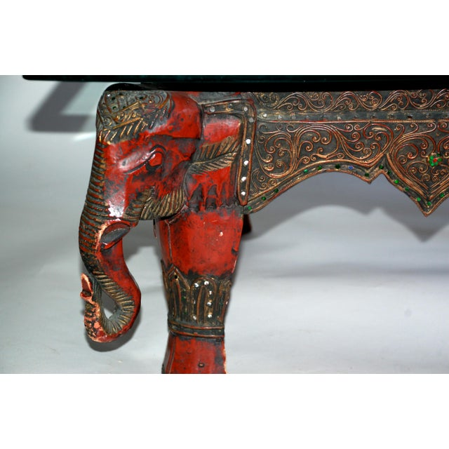 Vintage Lacquer Elephant Coffee Table Chairish