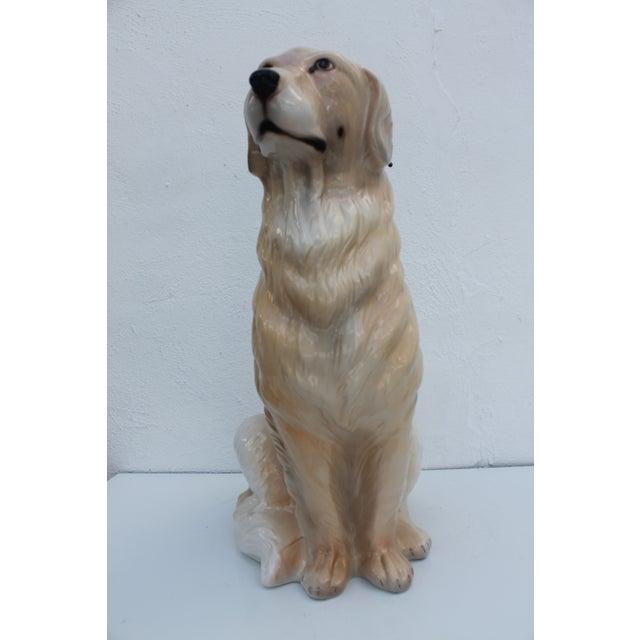 Image of Italian Ceramic Dog Statue