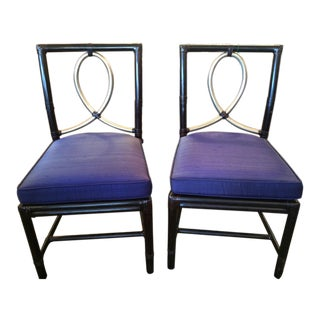 McGuire Rattan Bamboo Chairs - A Pair