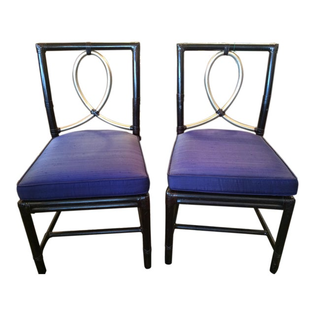 Image of McGuire Rattan Bamboo Chairs - A Pair