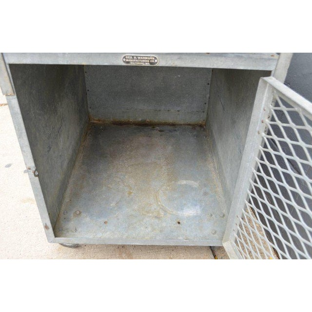 Bar on Wheels / Potting Table / Plant Stand from Galvanized Vet Exam Table - Image 8 of 10