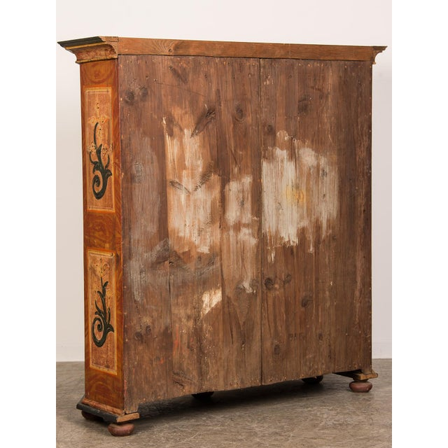 Antique German Hand Painted Dowry Cabinet, Two Doors, circa 1800 - Image 5 of 11