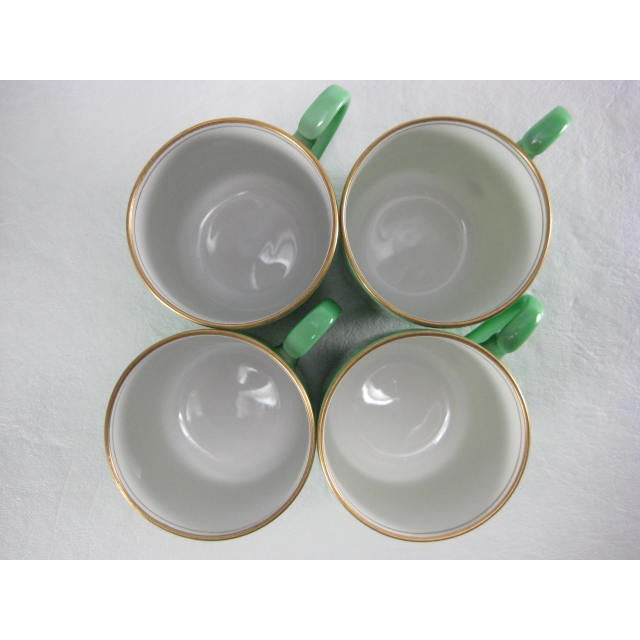 Green Demitasse Cups & Saucers by Morimura - 8 Pieces - Image 4 of 11