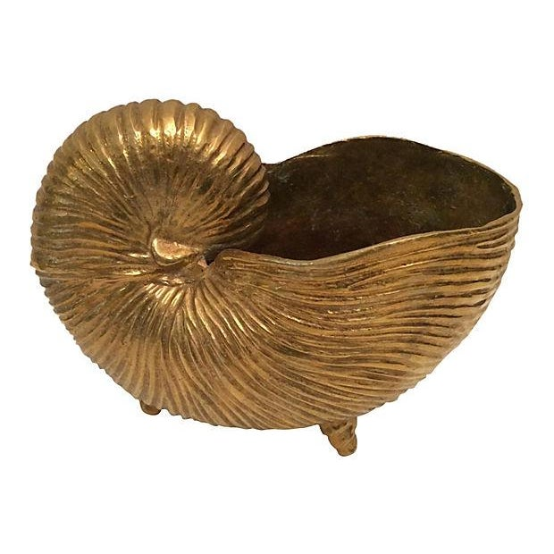 Image of Vintage Brass Seashell