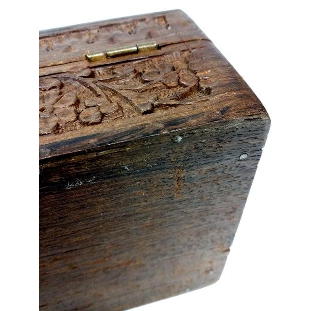 Vintage Sandalwood Carved Trinket Box India - Image 8 of 8