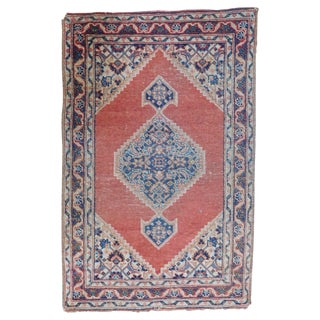 Antique Persian Tabriz Rug - 1′8″ × 2′8″