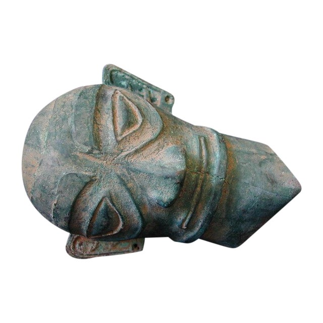 Image of Museum Quality Bronze Archaic Warrior Head Mask
