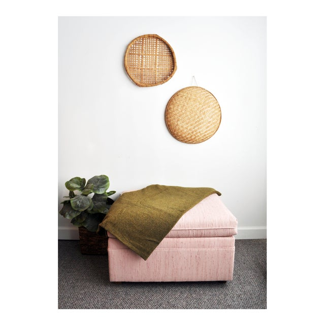Blush Pink Upholstered Ottoman - Image 2 of 9