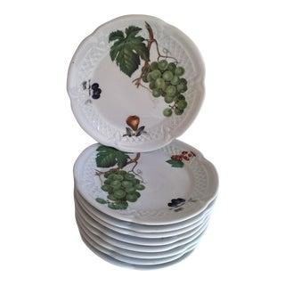 French Porcelain Fruit & Dessert Plates - Set of 10