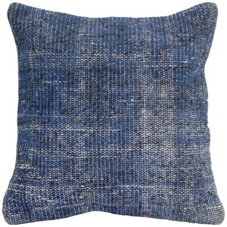 Blue Vintage Handmade Overdyed Pillow Cover