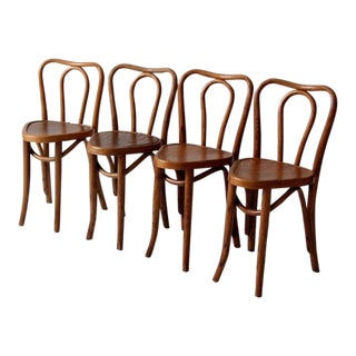 1930's Northern Chair Company Bentwood Chairs - Set of 4