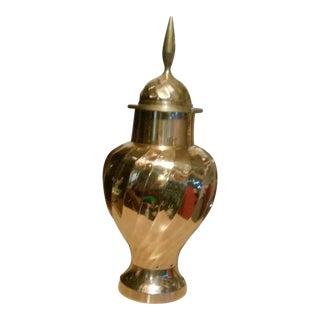 Spiral Brass Urn