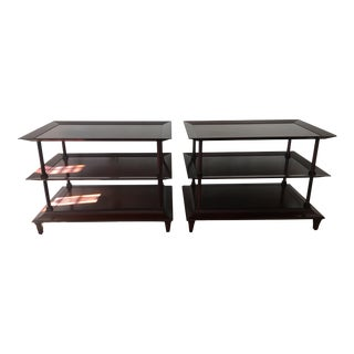Jacques Garcia for Baker Furniture Kashmir 3 Tiered End Tables - A Pair