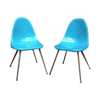 Mid-Century Eames Style Fiberglass Chairs - A Pair