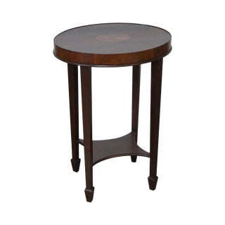 Hekman Copley Place Mahogany Oval Inlaid Accent Table