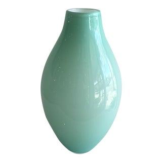 Polish Pale Aqua Vase