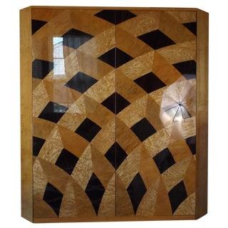 Saporiti Burl Wood Cabinet by Giovanni Offredi