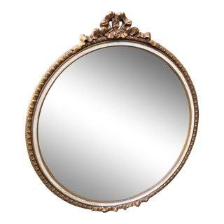Vintage Gilt Round Mirror
