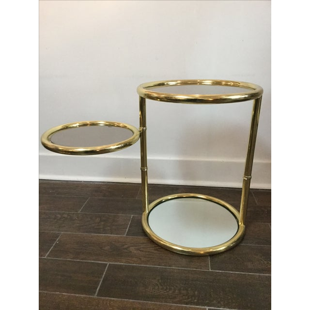 1970's Swivel Brass Side Tables - Image 8 of 11
