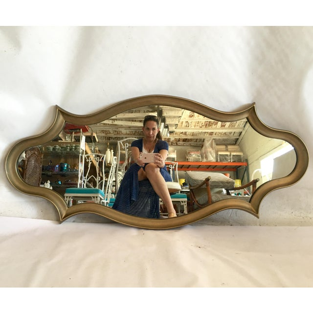 Gilt Wood Cartouche Form Framed Mirror - Image 3 of 7