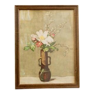 Framed Vintage Floral Print