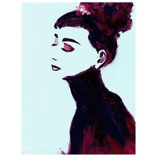"""Audrey"" by Arthur Pina De Alba, Ipad Drawing on Archival Art Paper # 2 of 7"