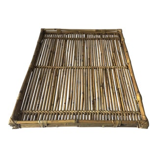 Vintage Scorched Bamboo & Rattan Tray