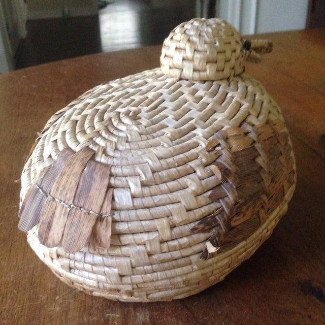 Vintage Natural Wicker/ Straw Bird Basket - Image 4 of 11