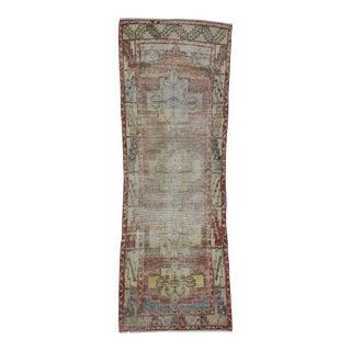Distressed Vintage Turkish Runner Rug - 3′3″ × 9′1″