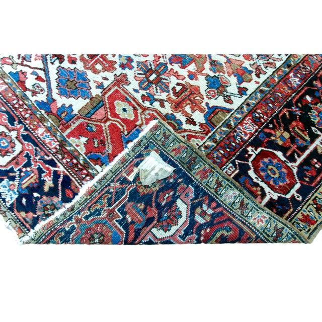 """Antique Persian Heriz Rug - 8' 10"""" x 11' 2"""" - Image 4 of 9"""