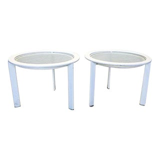 Brown Jordan Outdoor/Patio Side Tables - A Pair