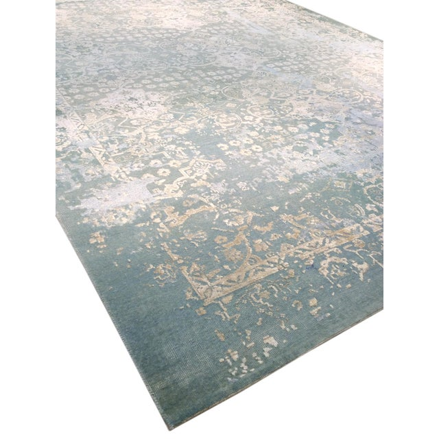 "Pasargad Transitiona Silk Wool Rug - 7'11"" x 9'11"" - Image 3 of 4"