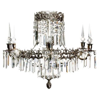 Oscar 6 Arm Nickel X Prism Bathroom Chandelier